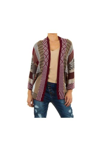 Neckermann Dames vest one size - donker rood
