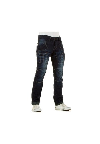 URBAN RAGS Heren Jeans van Urban Rags  - donker blauw