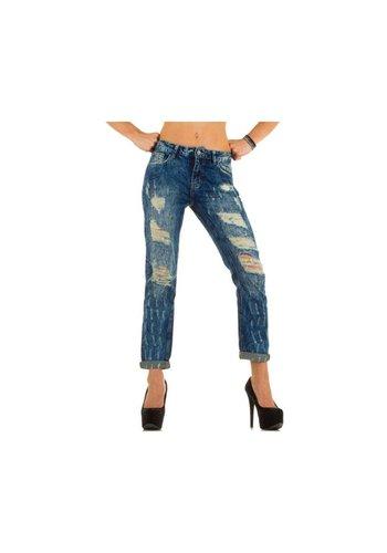 GOODIES Dames Jeans van Goodies - blauw