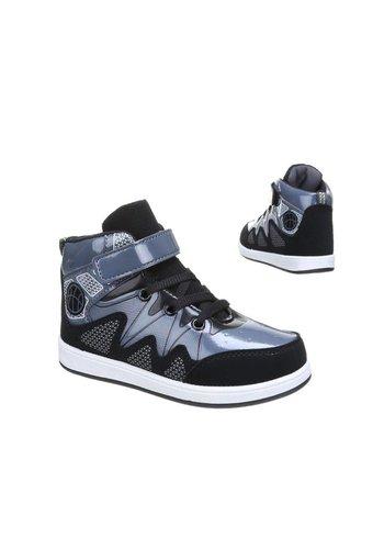 MIKELO SHOES Kinder Sneakers - Zwart Donker Grijs