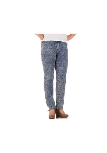 BIG SPADE Dames Jeans van Big Spade  - licht blauw