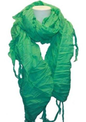 Romano Dames sjaal groen met franje