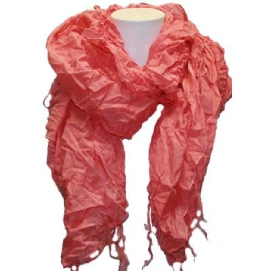 Damen Schal rosa mit Fransen