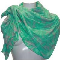 Damen Schal grün-grau