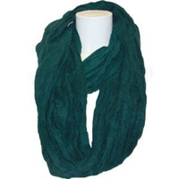 Damen Schal grün gewebt