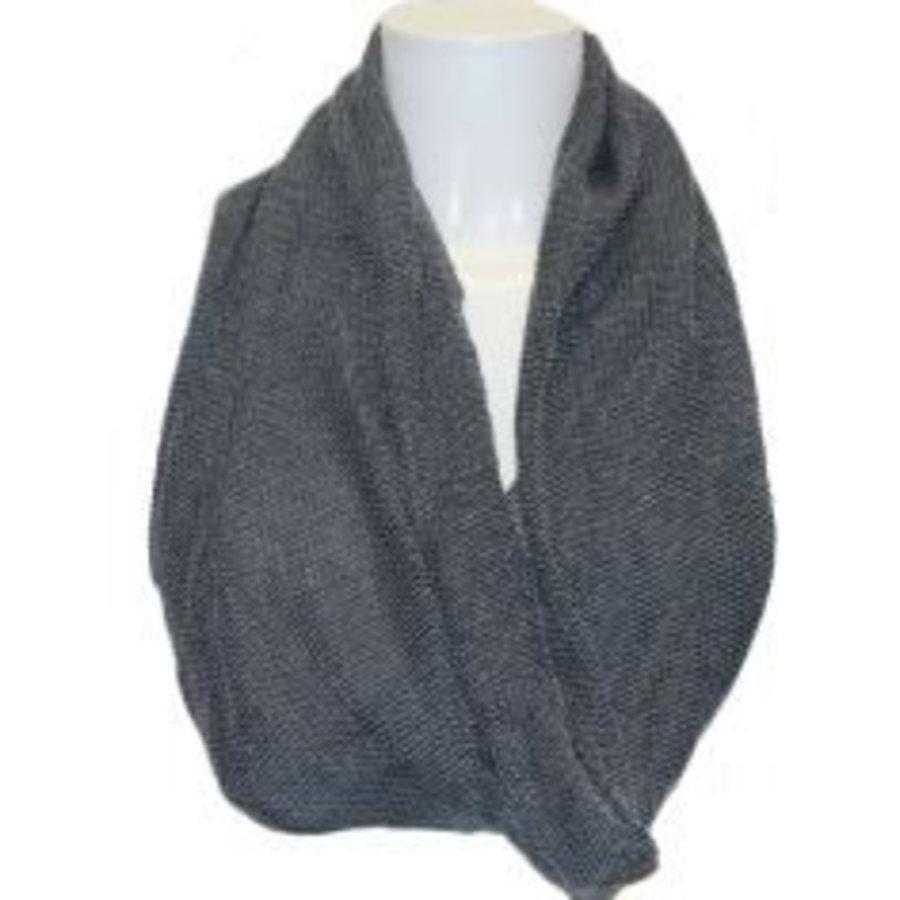 Damen Schal grau gewebt