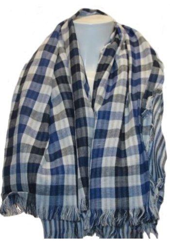 Clockhouse Dames sjaal ruit donker-blauw