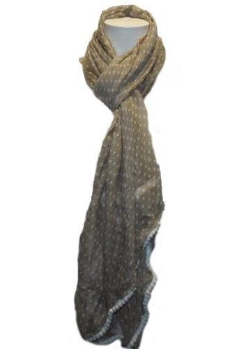 Romano Damen Schal ecru mit weißen Punkten