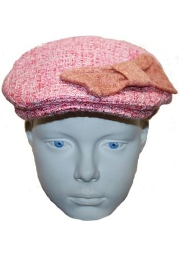 Grace hats Pet roze met strik