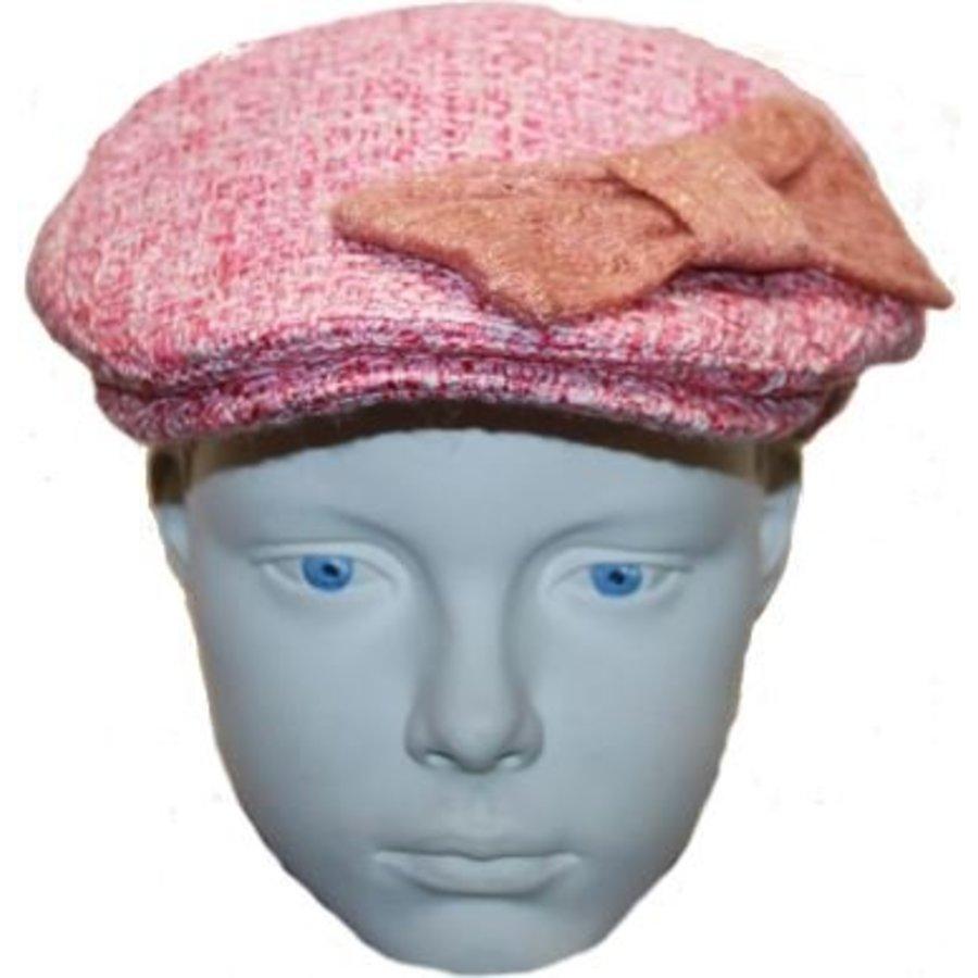Hut rosa mit Bogen