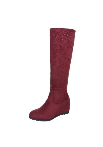 GLOSSY Dames laarzen - rood