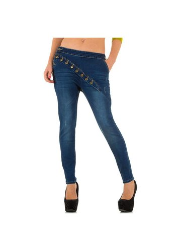 GOLDENIM Dames Jeans van Goldenim - blauw