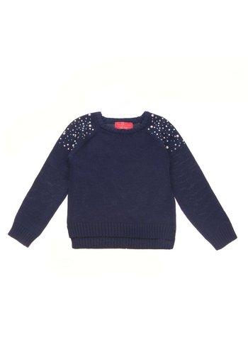 Markenlos Kinder Pullover van Funky Diva - Donker Blauw