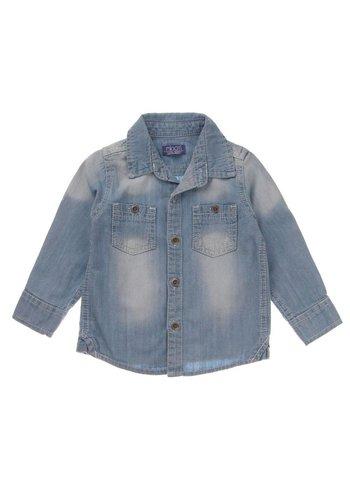 Markenlos Kinder Shirt Denim van Miniti - Blauw