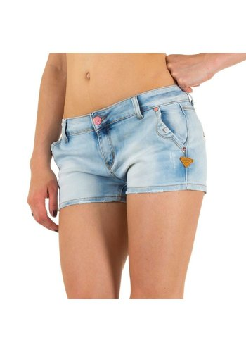 Simply Chic Dames Shorts van Simply Chic - blauw
