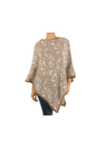 Neckermann Dames Poncho Gr. one size - beige