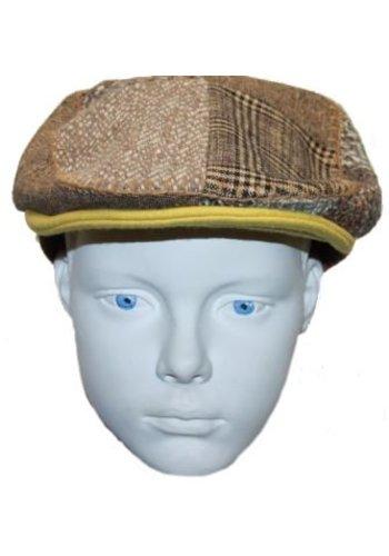 Grace hats Pet bruin met verschillende vlakken