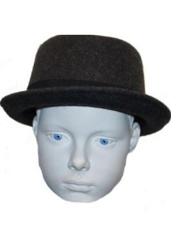 Grace hats Chapeau gris avec sangle noire