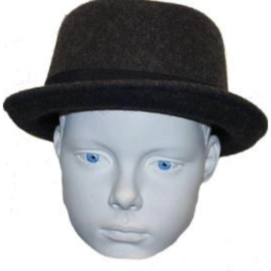 Hut grau mit schwarzem Riemen