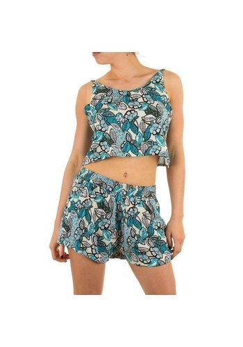 JCL Dames shorts set van Jcl  - Turquoise