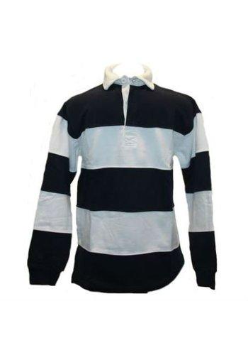 Lemon & Soda Sweater Met Polo Kraag en lange mouw Blauw Wit