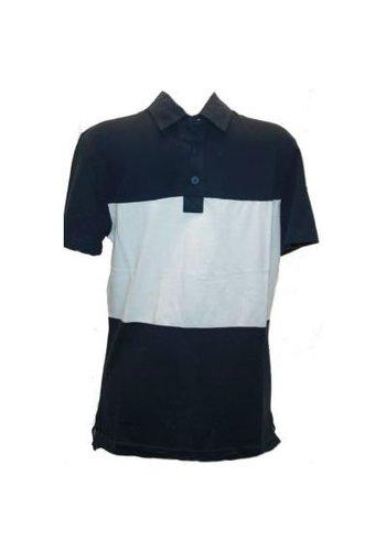 Celio Polo korte mouw blauw-wit