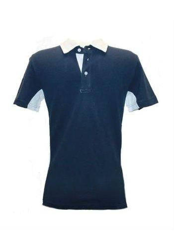 Celio Polo korte mouw Blauw Wit