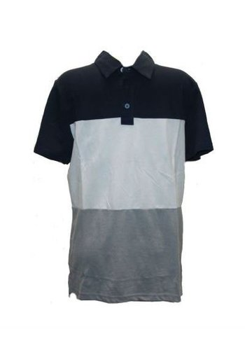 Celio Polo korte mouw Wit-blauw-grijs