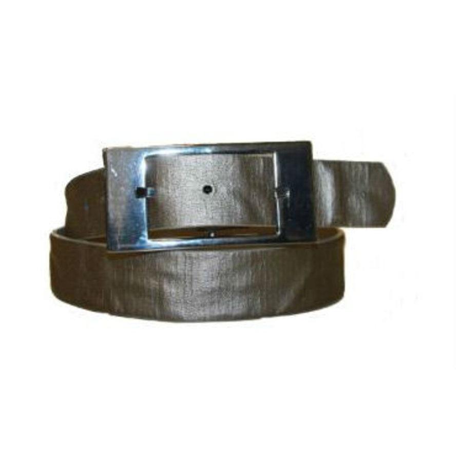 Gürtel Silber mit quadratischer Schnalle