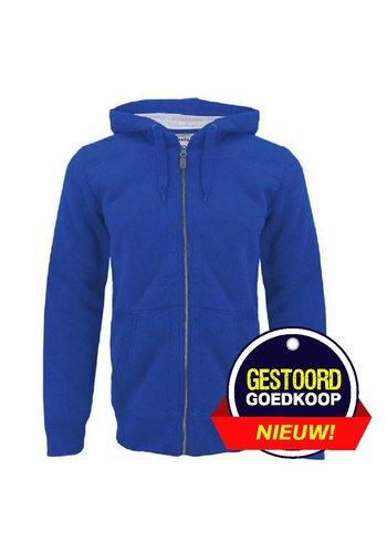 Celio Vest blauw met capuchon