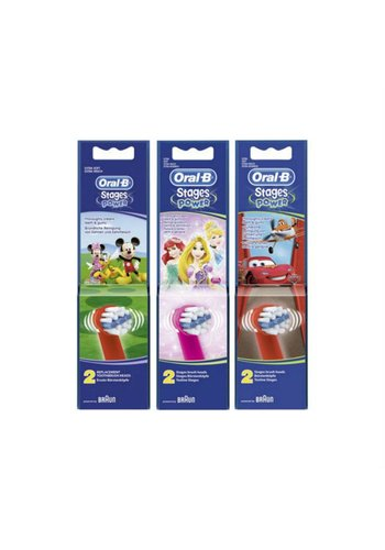 Oral B Opzetborstels stages power 2 stuks