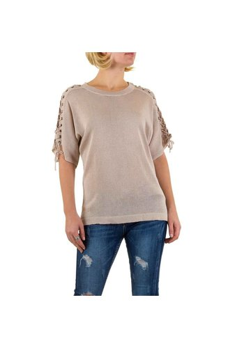 SHK MODE Dames Top van Shk Mode one size Licht Khaki