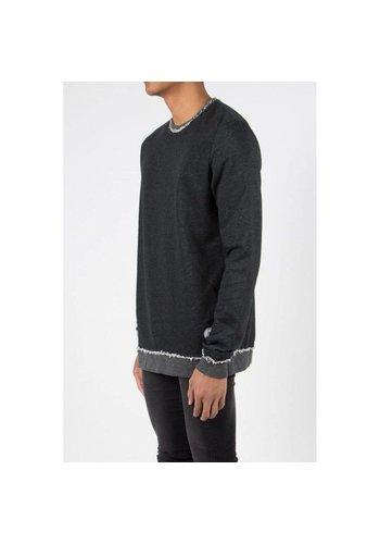 SIXTH JUNE Heren Sweater van Sixth June - donkergrijs
