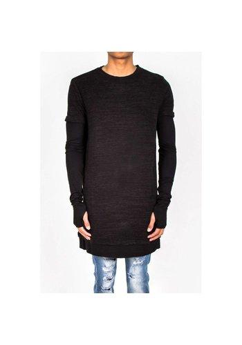 SIXTH JUNE Heren Sweater van Sixth June - zwart