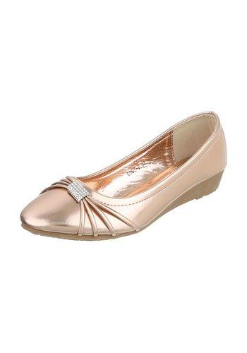Neckermann Dames ballerina's goud/roze