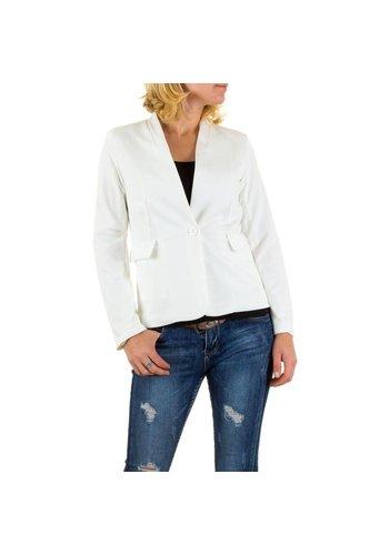 EMMA&ASHLEY DESIGN Dames Blazer van Emma&Ashley Design Wit