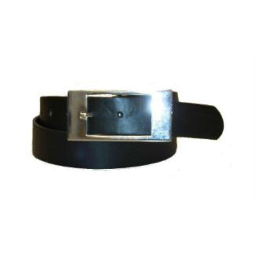 Gürtel schwarz mit quadratischer Schnalle