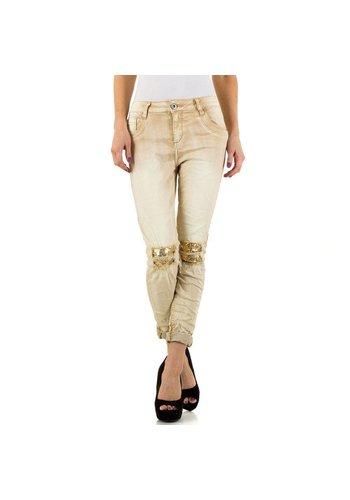 Mozzaar Damen Jeans von Mozzaar - beige