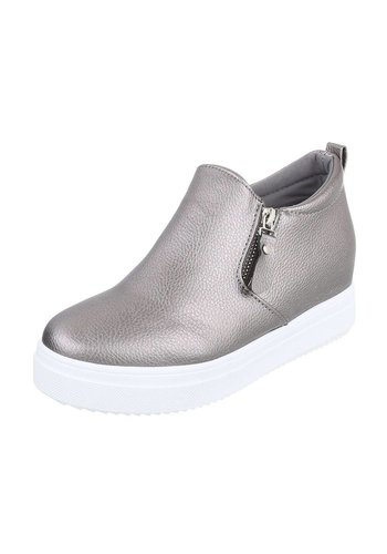 Neckermann Dames platform schoenen - grijs/metallic