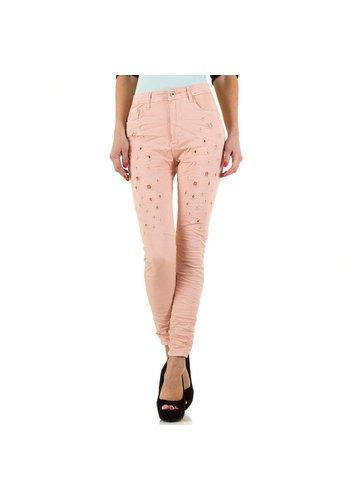 PLACE DU JOUR Dames Jeans van Place Du Jour  - roze