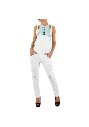 Semaforo denim Dames Jeans Overal van Semaforo Denim - wit