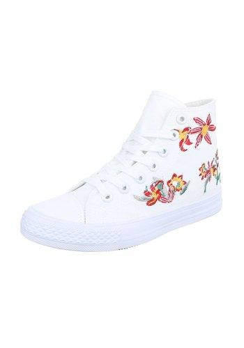 Neckermann Baskets de dames - blanc/fleur