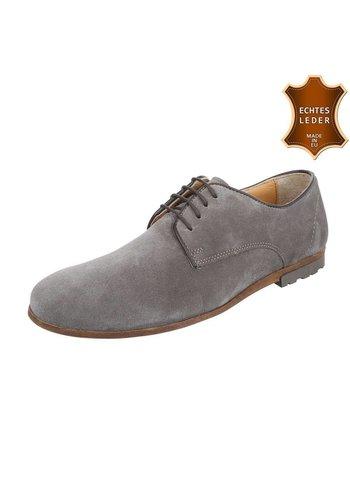 COOLWALK Heren Echt Leren heren schoen van COOLWALK - Grijs