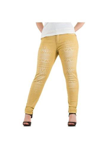 LE LYS Dames Jeans van Le Lys - camel