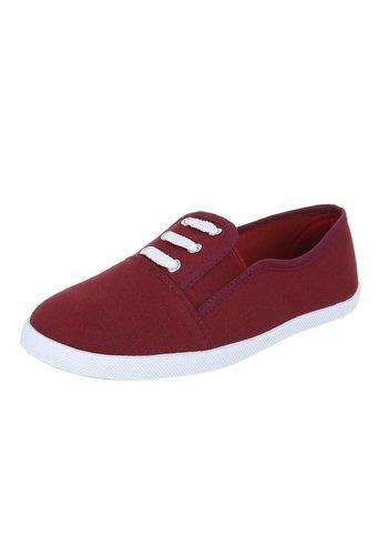 Neckermann Dames sneakers Donker rood