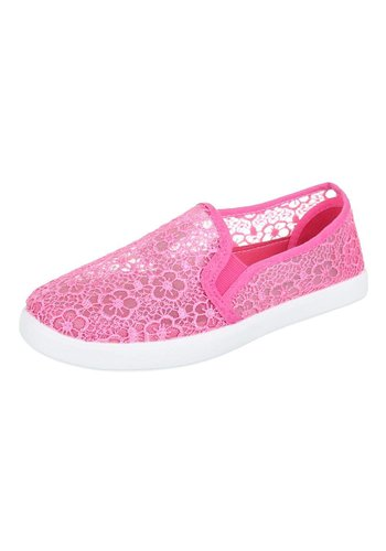 JUSTINE SHOES Dames Instappers Fuchsia