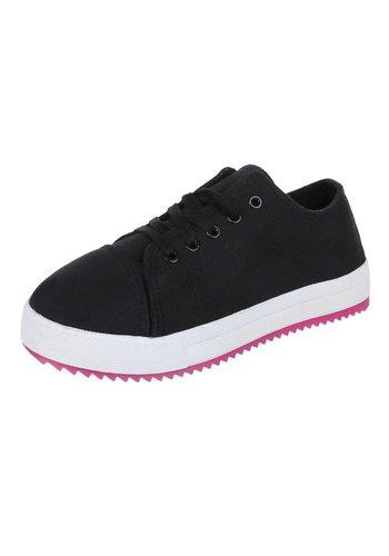 JUSTINE SHOES Dames Sneakers - Zwart