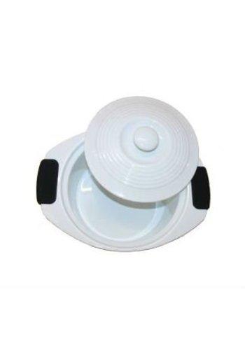 Neckermann Neckermann casserole avec poignée en silicone blanc 30x23 cm