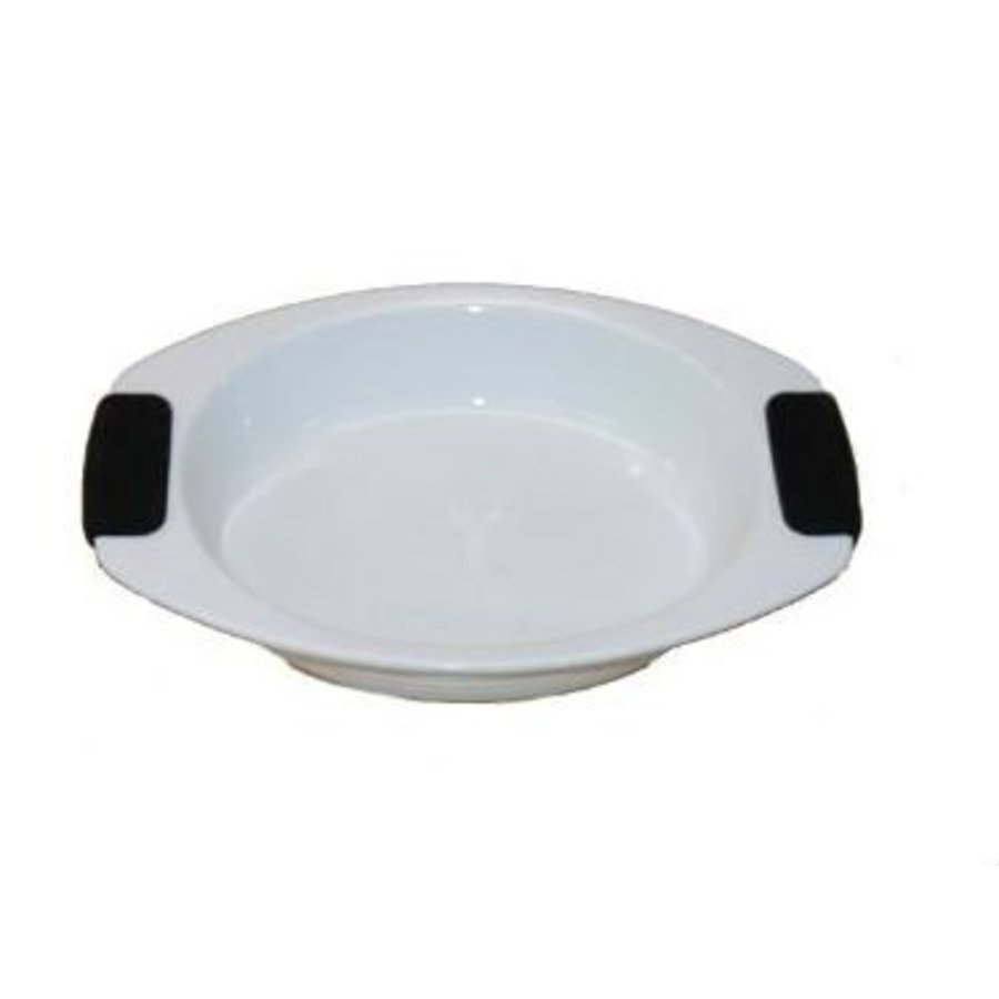 Auflaufform oval mit Silikongriff 30x22 cm