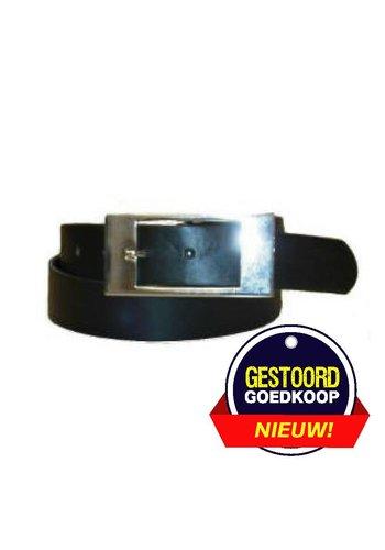Romano Gürtel schwarz mit quadratischer Schnalle